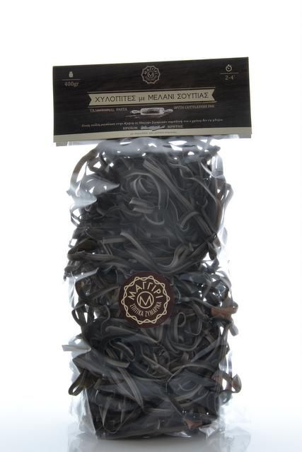 Cretan Pasta Noodles with Cuttlefish Ink