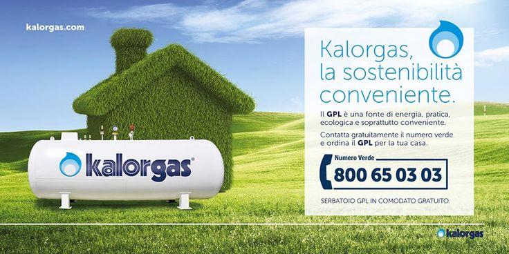 Realizzazione dei poster 6x3 per la campagna affissione di Kalorgas - Agenzia di pubblicità a Napoli AT&ACME. Affissioni poster a Napoli
