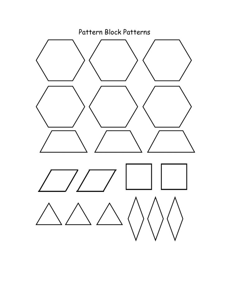 87 best Shapes Activities images on Pinterest DIY, Colors and - pattern block template
