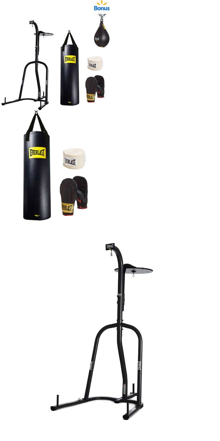 Bag Stands Platforms and Accs 179785: New Everlast Dual Station Heavy Bag Stand 100 Lb Punching Bag Boxing Kit Gloves -> BUY IT NOW ONLY: $239 on eBay!