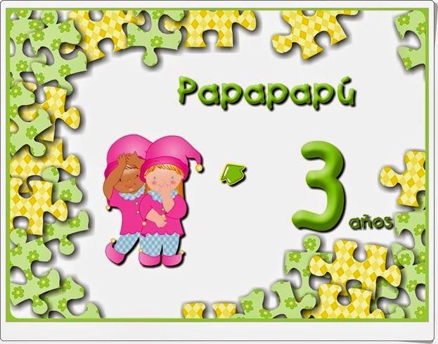 """""""Papapapú. Educación Infantil de 3 años"""" contiene buena cantidad de juegos educativos interactivos, de contenido interdisciplinar, complementarios al material didáctico de Editorial Algaida para este nivel. Se trata de actividades atractivas visualmente y bien construidas didácticamente."""