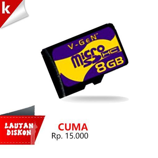 MicroSD V-GeN 8GB, cuma 15 Ribu  Sikattt, klik http://j.mp/LautanDiskon
