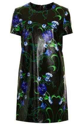 Craft Print PU Dress - Dresses  - Clothing