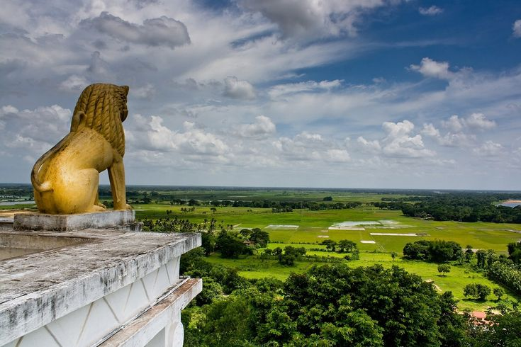 View from Dhauli Hill, overlooking the plains and Daya River