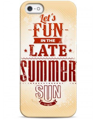 Lets fun in the late summer sun - iPhone 5 / 5S / 5C Дизайнерские чехлы для iPhone #чехлы для iPhone #fun #summer #sun