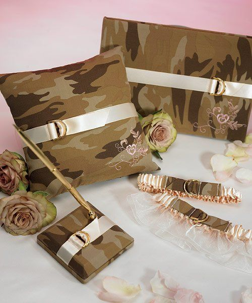 Camo Wedding Decorations | Discerning Camouflage Collection    MyDreamWedding.ca