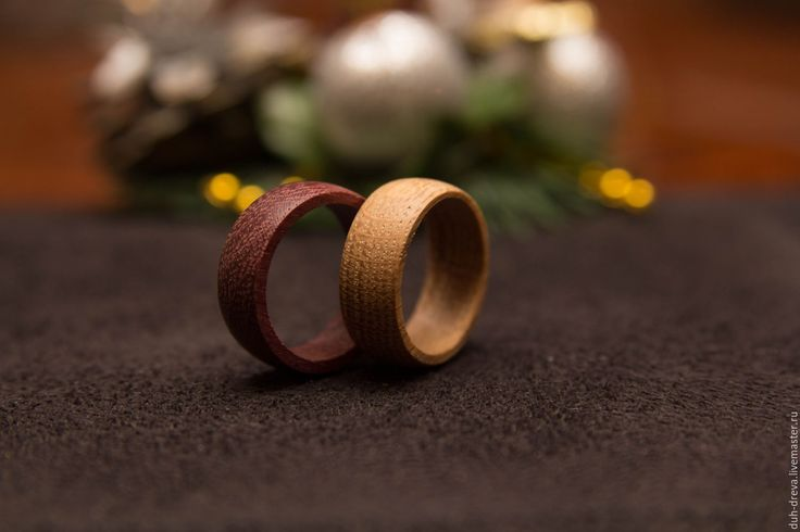 Купить Обручальные кольца из дерева - коричневый, обручальные кольца, кольца из дерева, деревянные кольца