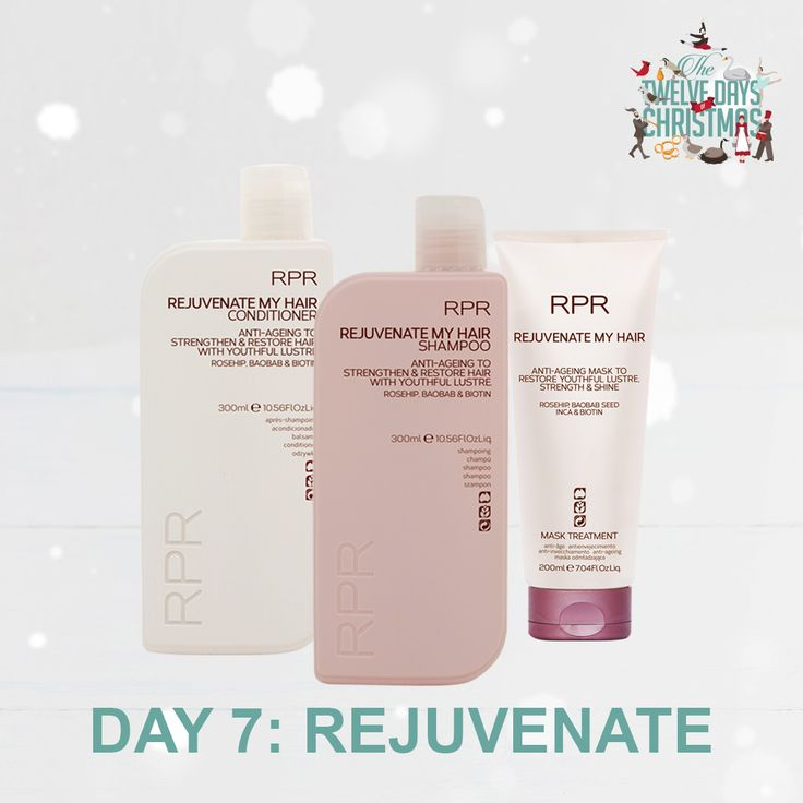 DAY 7: REJUVENATE. Strengthen and restore hair with youthful lustre this Christmas with our RPR Rejuvenate My Hair range. Perfect for anyone looking to add strength and shine into their hair.