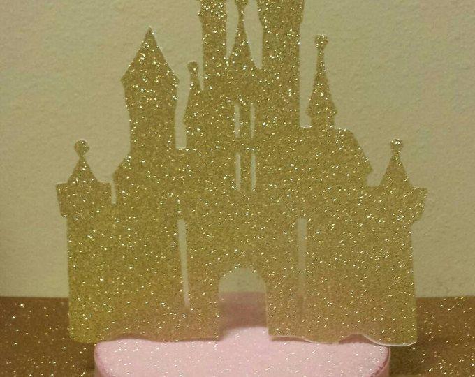 Fiesta de cumpleaños de Castillo de princesa color rosa oro o Baby shower brillo central real princesita o príncipe 1er cumpleaños puedes elegir colores