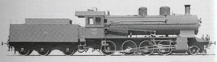 Güterzuglocomotive C 4/5 Nr. 2618 der Schweizeriſchen Bundesbahnen, gebaut 1912 inn der Schweizeriſchen Locomotiv- und Machines-Fabrique zů Winterthur (Fabr.-Nr. 2242), 1930 außer Dienſt geſtellt und anſchließend abgebrochen.
