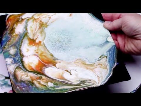 Dirty Pour Cup Flip Cup Experiment Fluid Acrylic Huge Cells - YouTube