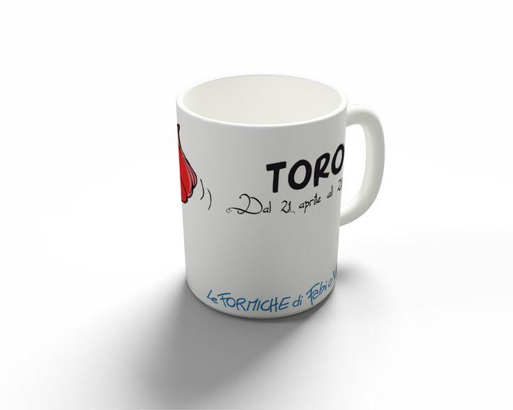 """Tazza """"Toro""""   Le Formiche di Fabio Vettori #MUG #tazza #oroscopo #formiche #gift #zodiaco #regalo #toro"""