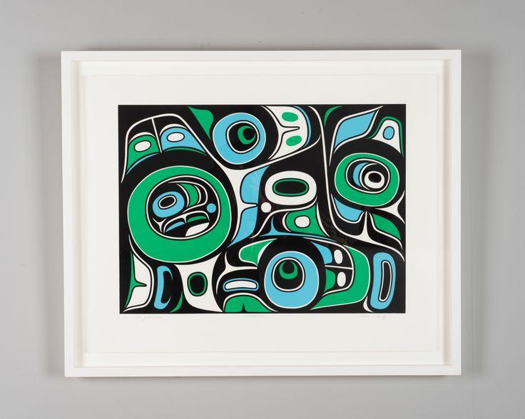 Thunderbird framed serigraph print by Haida artist Don Yeomans