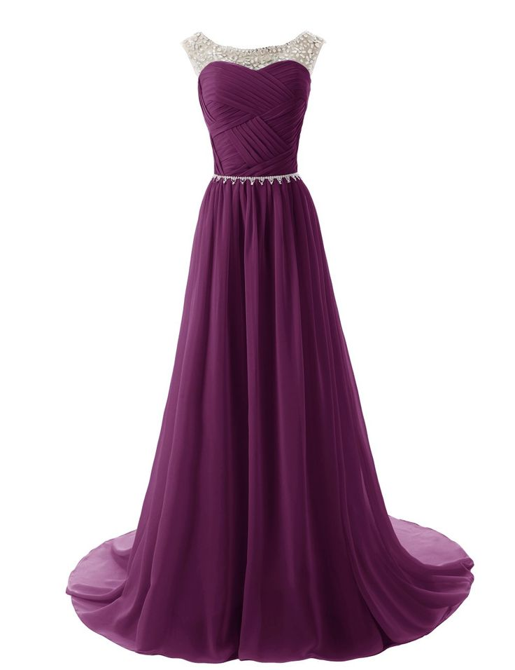 Dressystar Beaded Straps Bridesmaid Prom Dresses with Sparkling Embellished Waist at Amazon Women's Clothing store: $96.80