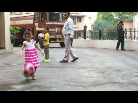 SO CUTE Sanjay Dutt's son Shahraan and daughter Iqra playing football.  See the full video at : https://youtu.be/LsK7sNHIsbY #sanjaydutt