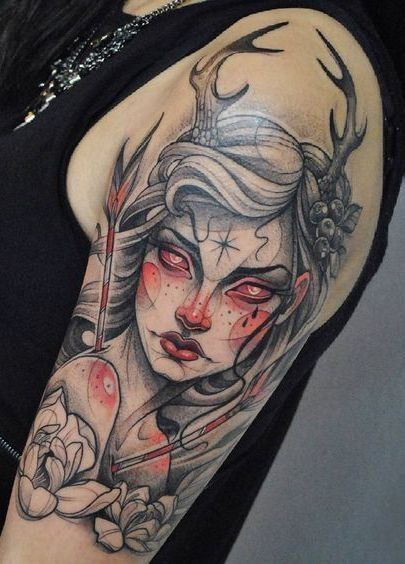 d26cea971aa15 TOP 56+ Unique Neo-Traditional Tattoo Ideas — Get Inspired | art ...