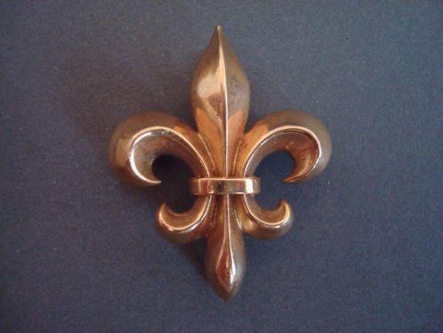 Antiek Victoriaans 14K rose goud horloge broche Fleur de Lis http://link.marktplaats.nl/m879129451