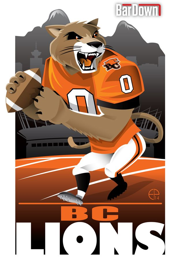#EPoole88 (Eric Poole) is at it again, this time with the CFL. Here is his rendition for the B.C. Lions.