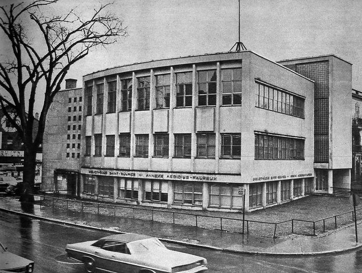 Bibliothèque nationale du Québec, rue Mont-Royal - Montréal (1968)