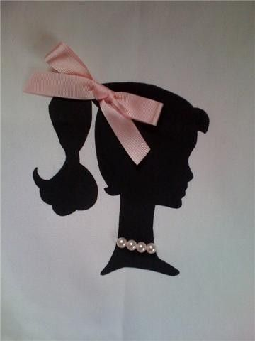 Vintage Silhouette T shirt Ladys with 3D bow by IlleanasBowtique, $25.00