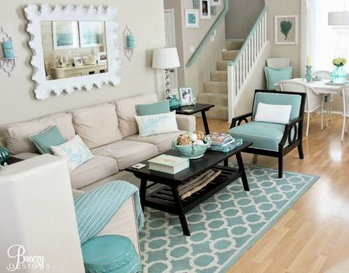 Top 25 ideas about aqua color schemes on pinterest aqua for Turquoise color scheme living room