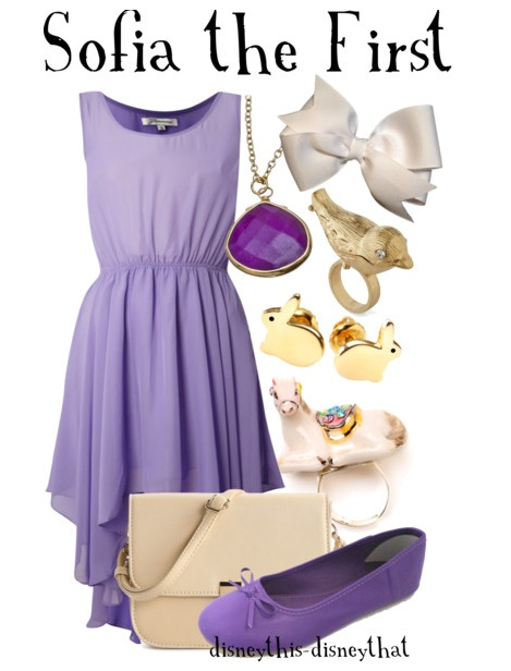Sofia the First Disneybound Outfit idea - also a fun idea for Mom at a Sofia the First Birthday Party
