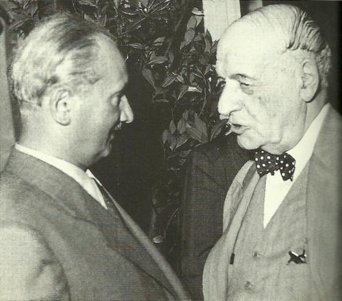 Martin Heidegger and José Ortega y Gasset, 1951 (http://thecultofgenius.tumblr.com)