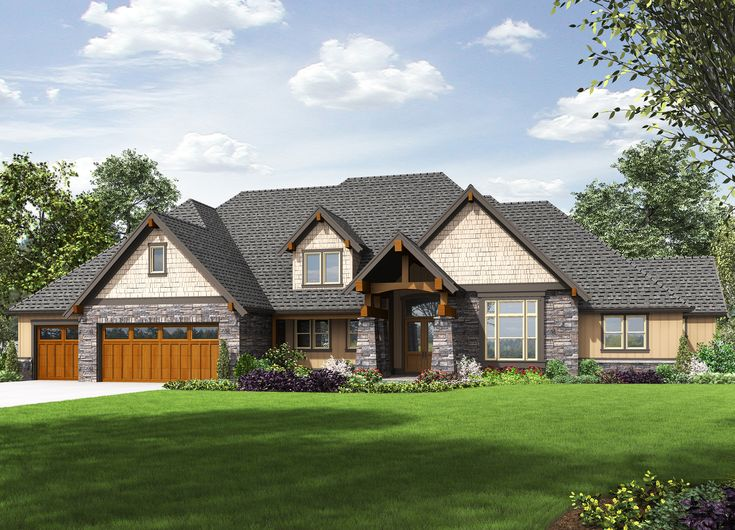 plan 69599am rugged craftsman with 4 beds and bonus