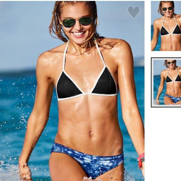 Pink triangle bikini top New. Comes in ordered bag PINK Victoria's Secret Swim Bikinis