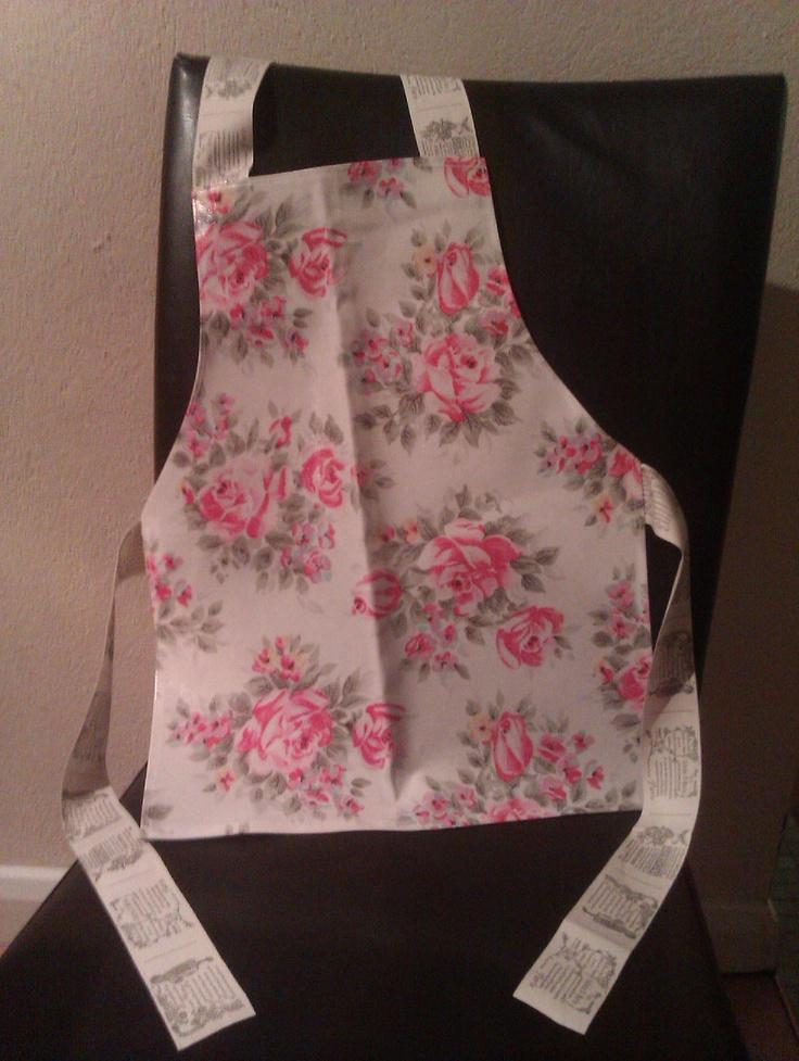 Girls oilcloth apron. Cath Kidston fabric