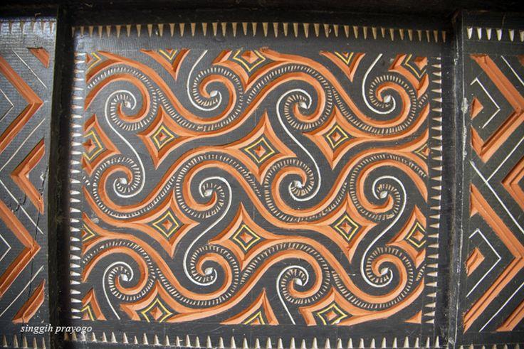 Details of A Tongkonan House, Toraja - South Sulawesi