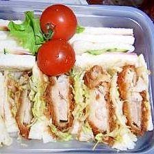 ピクニックお弁当に カツサンド