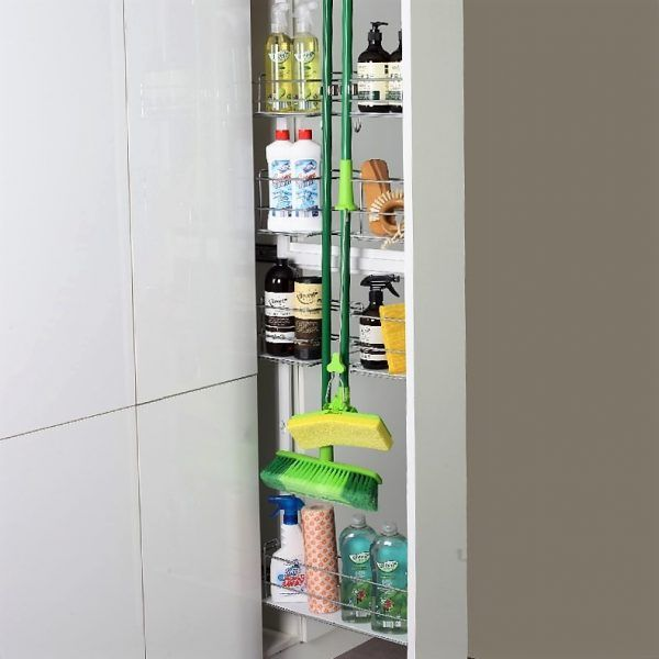 Broom Storage Pull Out Laundry In 2019 Broom Storage Diy Kitchen Storage Narrow Cabinet Kitchen