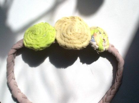 Wreath bridesmaids Hairband Drops of braid by recyclingroom, $25.00