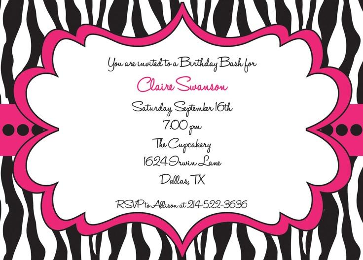 Zebra invitation template orderecigsjuicefo 170 best birthday zebra party images on pinterest zebra party birthday invitations stopboris Gallery