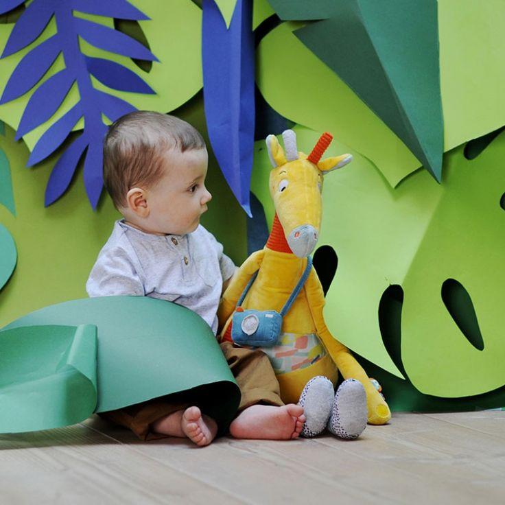 Peluche géante Billie la girafe Jungle Boogie (70 cm)