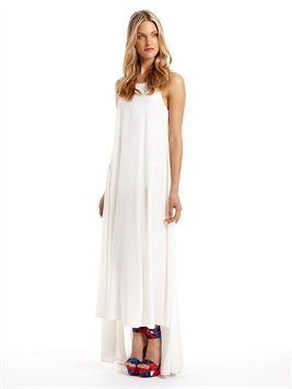 Runway Long Length Dress With Keyhole Back DKNY: Long Length, Dkny White, Flowy Dresses, Client Trip, Keyhole, Woman Dresses
