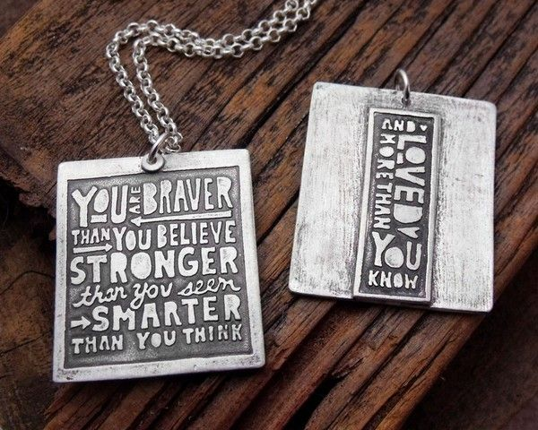 You are Braver Than You Believe Necklace : Wantist.   Want to buy this for my daughter
