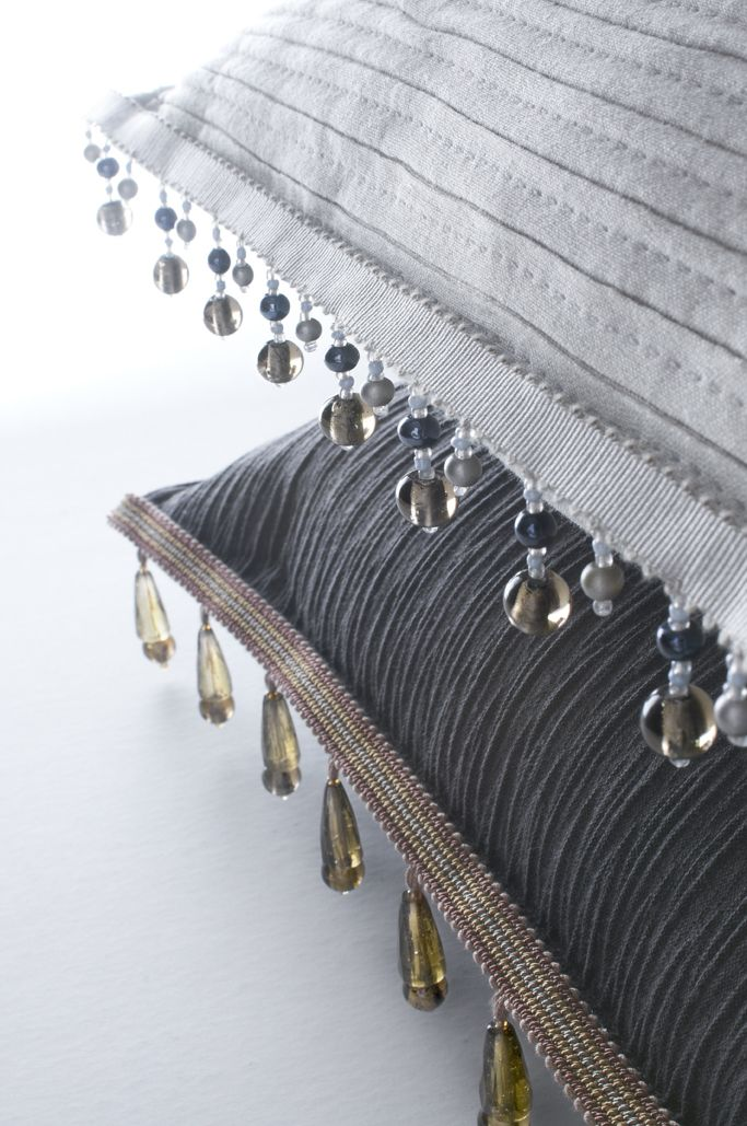 Pillow trim doesn't always mean fringe I The Word on Design: Passementerie Designer: Edward Neer www.edwardneer.com