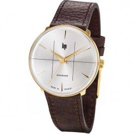 Montre Lip Homme Panoramic Cuir Marron 671060