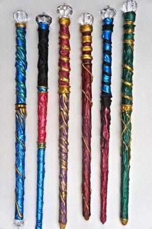Wands: Conductive metals can be used to make a wand; gold is the second most powerful and silver being the most conductive metal for use. These metals are often too costly to use in creating a wand. Gold or silver wire wrapped around a wooden wand can be just as powerful. - Wicca Radio