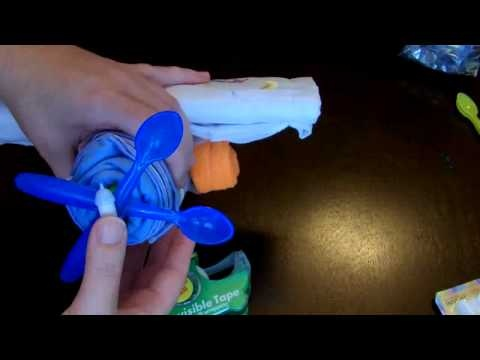 How to make an Airplane Diaper Cake - 3 Designs for baby shower