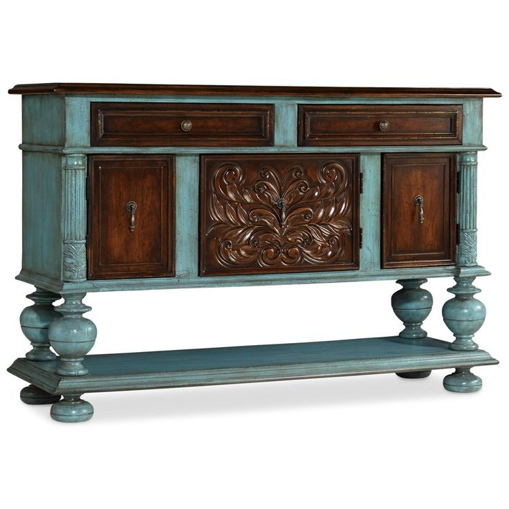 Hooker Furniture 5345-85001 Turquoise and Brown Chest in Blue