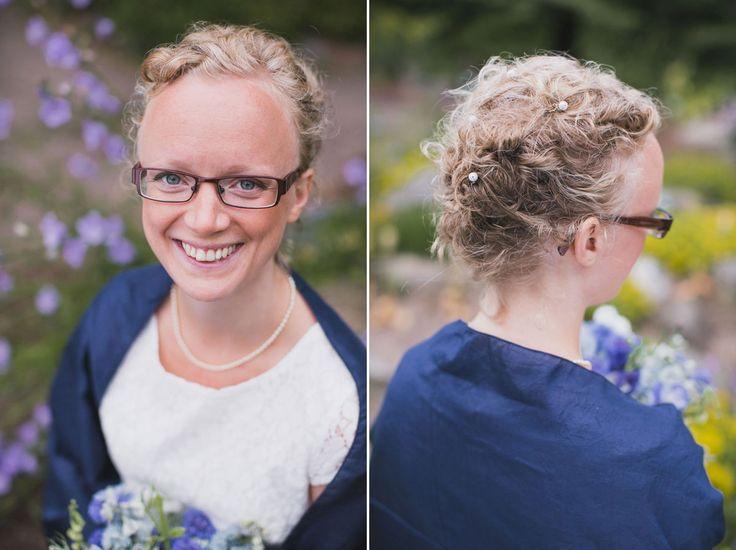 Ska ni gifta er i Lund? Jag arbetar som bröllopsfotograf, välkomna in!   Diptyk med klassiskt brudporträtt samt håruppsättning i Botaniska Trädgården, Lund. Foto av Tove Lundquist, bröllopsfotograf Malmö och Lund.