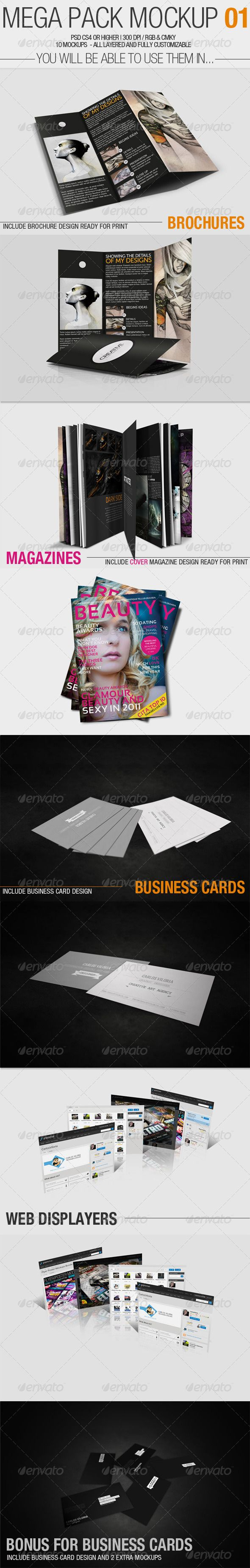 115 best product mock up templates images on pinterest miniatures mega pack mock up 1 reheart Images