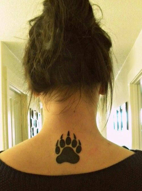 Bear paw tattoo!!  It's awesome..!