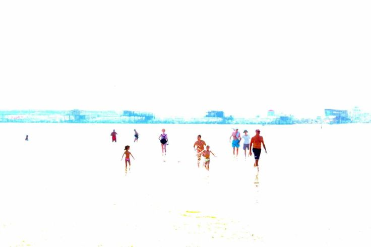FINEARTSEEN - View Let's all go to the sea I by Alessandra Barracchia. A beautiful manipulated coastal photograph of people enjoying a day at the beach. Available on FineArtSeen - The Home Of Original Art. Enjoy Free Delivery with every order.  << Pin For Later >>