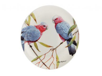 MAXWELL & WILLIAMS BIRDS OF AUSTRALIA 20cm Grey Galas Cake Plate
