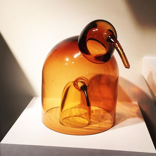 New #birdsbytoikka from #Iittala of #finland.  Bird inside bird.  #cloche for serving #egg based meals