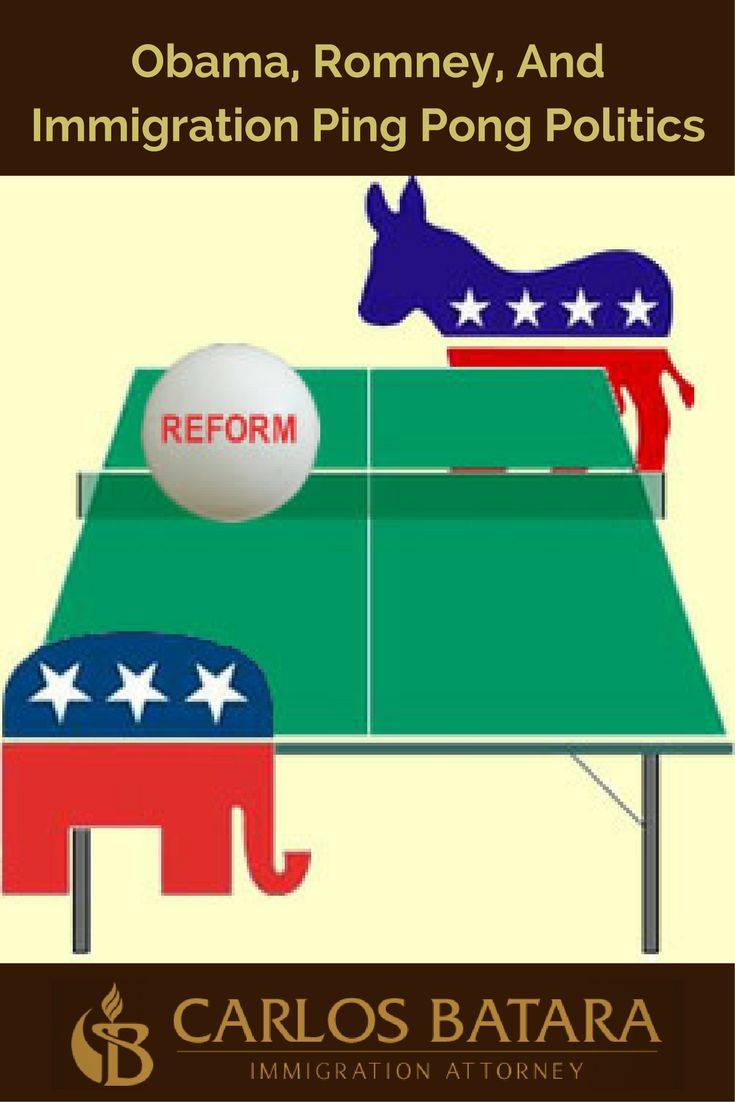 """Obama, Romney, And Immigration Ping Pong Politics   I agree with Senator Rubio.  Immigration reform resembles political ping pong.  The game accelerated with the start of the Obama administration.  In March 2010, I wrote """"Immigration Reform Ping Pong,"""" discussing how the hopes of immigrants were tossed back and forth by Democrats and Republicans as they counted votes."""
